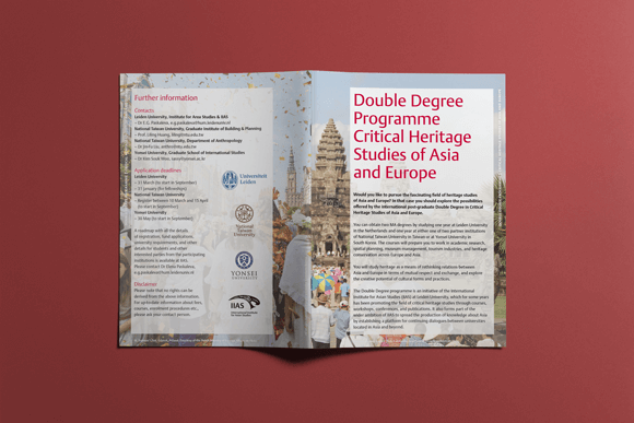 Double Degree Programme - Critical Heritage Studies of Asia and Europe